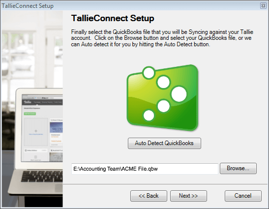 TallieConnect integrates Tallie with QuickBooks Desktop