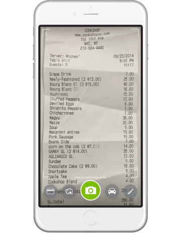 Tallie Mobile Receipt Snap